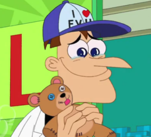 Doofenshmirtz_listening_to_'Wexler'