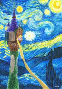tangled_starry_night_by_xijalle-d7v02z4