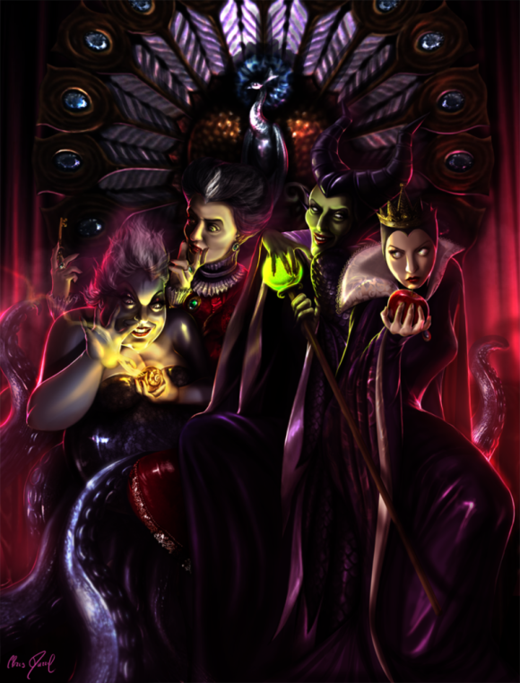 disney_villains___the_throne_contenders_by_darrilasylum-d666k7s