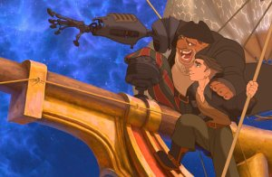 Disney Treasure Planet Jim & Long John Silver