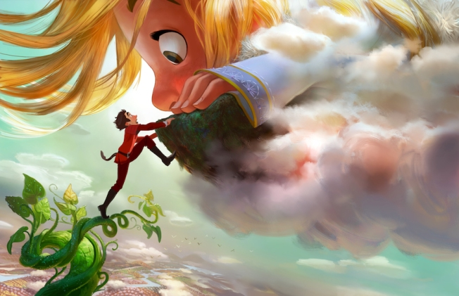 "GIGANTIC – DOWN TO EARTH — Adventure-seeker Jack discovers a world of giants hidden within the clouds, hatching a grand plan with a 60-foot-tall, 11-year-old girl. Directed by Nathan Greno (""Tangled"") and produced by Dorothy McKim (""Get A Horse!""), ""Gigantic"" hits U.S. theaters in 2018. ©2015 Disney. All Rights Reserved."